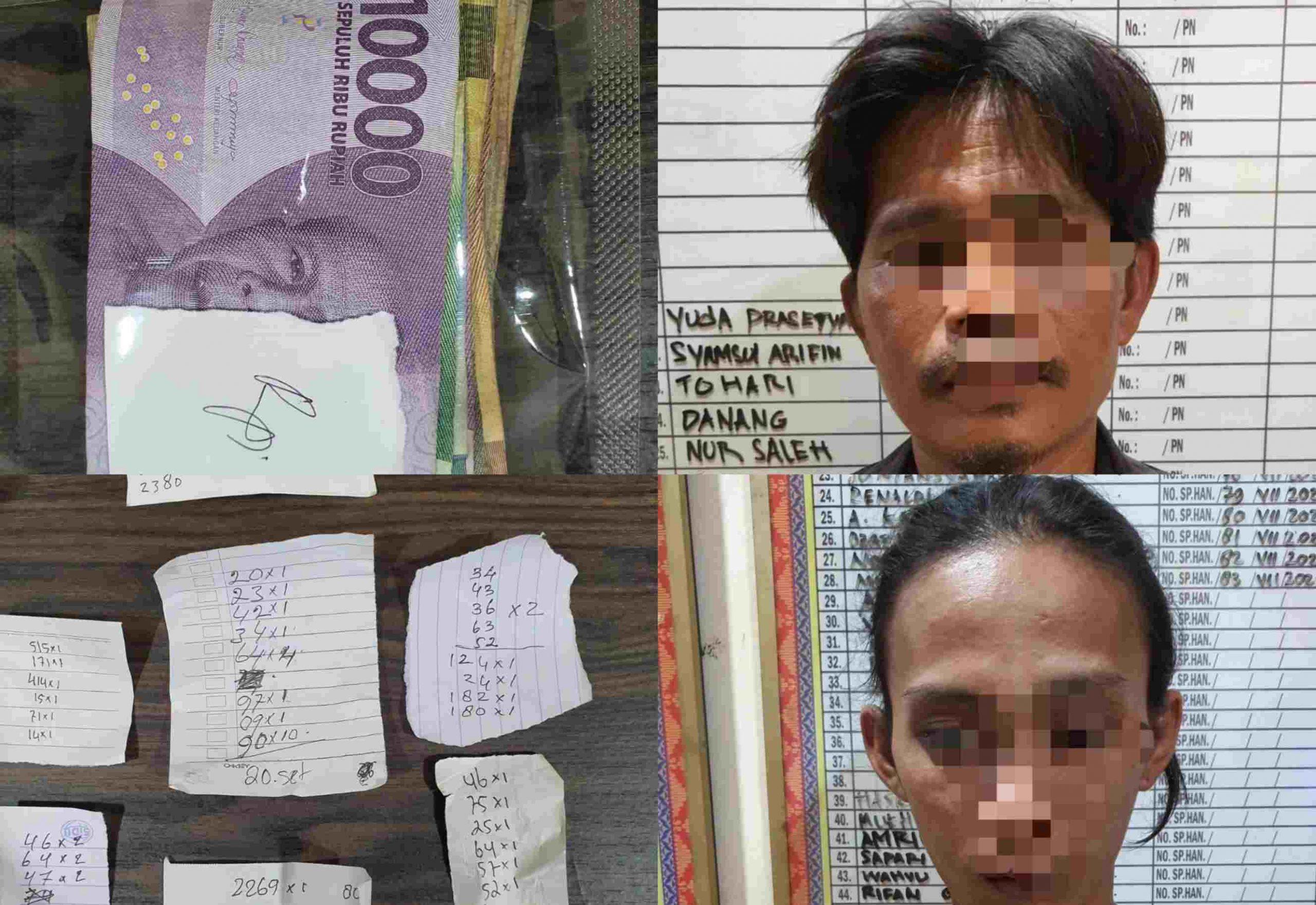 Dua Pelaku Bandar Togel Meresahkan Warga Berhasil Dibekuk Jatanras