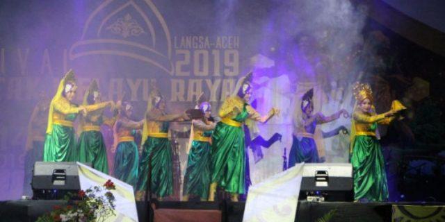 Dandim 0104/Atim Turut Ramaikan Pembukaan Festival Rentak Melayu Raya 2019 Di Kota Langsa