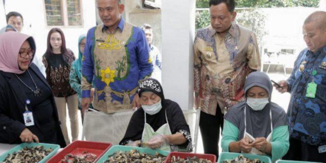 Kepala Badan POM Hj.Syamsuliani Tinjau Rumah Produksi Rafin's Snack
