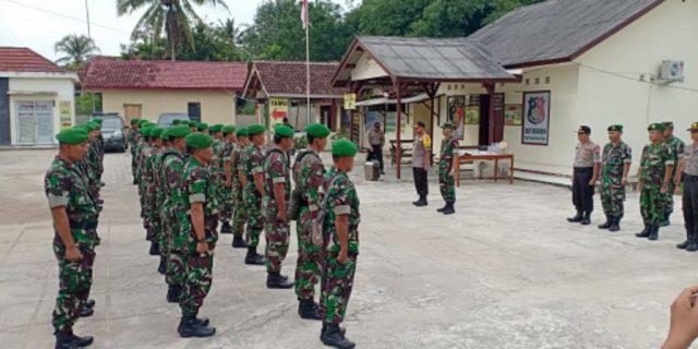 H-1 Jelang Pemilu, Apel BKO Personil Kodim 0412/LU ke Polres Tuba