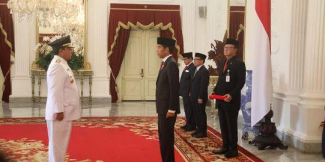 Presiden Jokowi Resmi Lantik Arinal – Chusnunia Gubernur dan Wagub Lampung 2019-2024