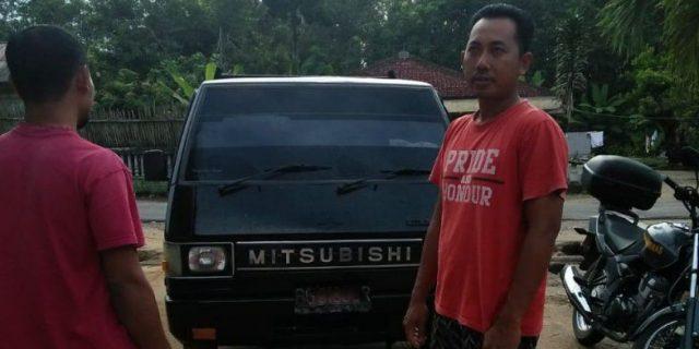 Mobil Pick Up Milik Warga Tiyuh Mulya Kencana Nyaris Digondol Maling