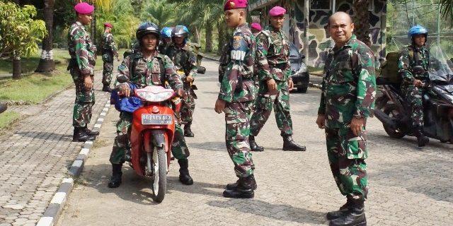 Prajurit Brigif 4 Marinir /BS Wilayah Lampung Laksanakan Apel Organik Gabungan